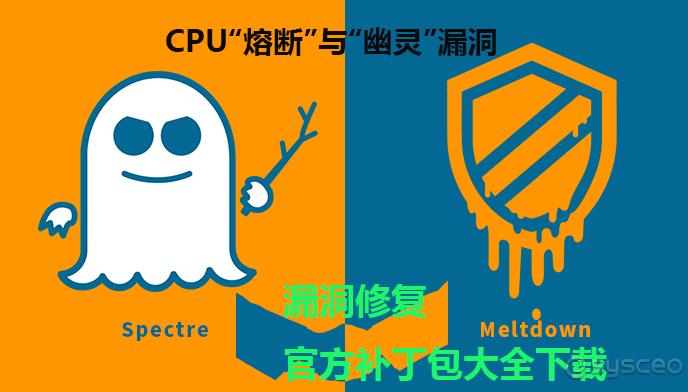 """微软发布的 CPU""""熔断""""与""""幽灵""""漏洞修复官方补丁包大全"""