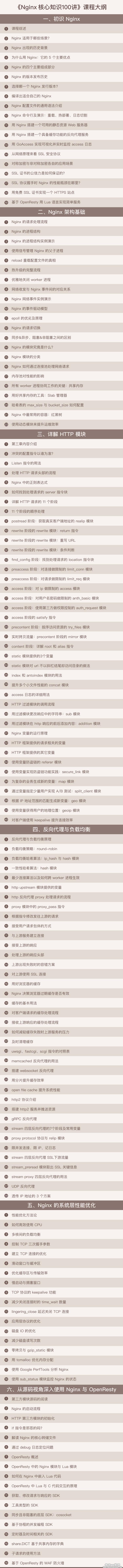 Nginx核心知识100讲网盘资源,陶辉主讲