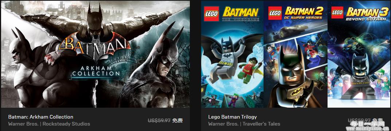 image.png Epic喜加一,免费领蝙蝠侠系列游戏 优惠福利